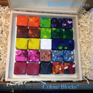 Kids Stackable Square Crayon Blocks for Coloring