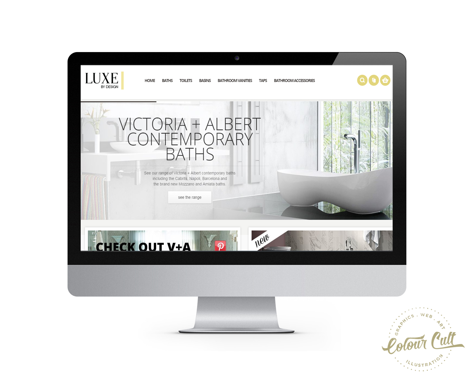 Luxe by Design magento website by Colour Cult, Brisbane.