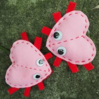 Valentines Love Bugs: Sewing With Kids