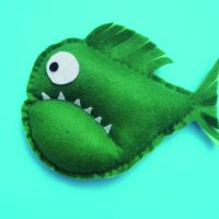 A Simple Piranha Softie Kids Can Sew