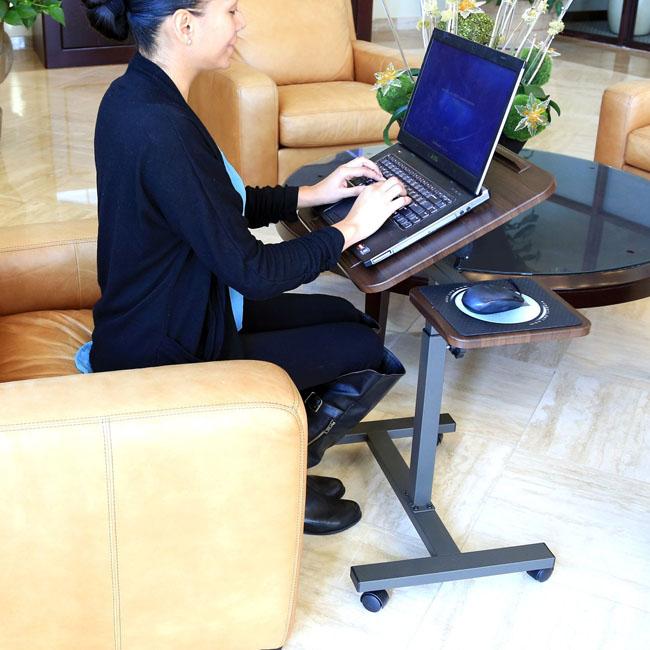 Seville Classics Mobile Laptop Desk Sitting