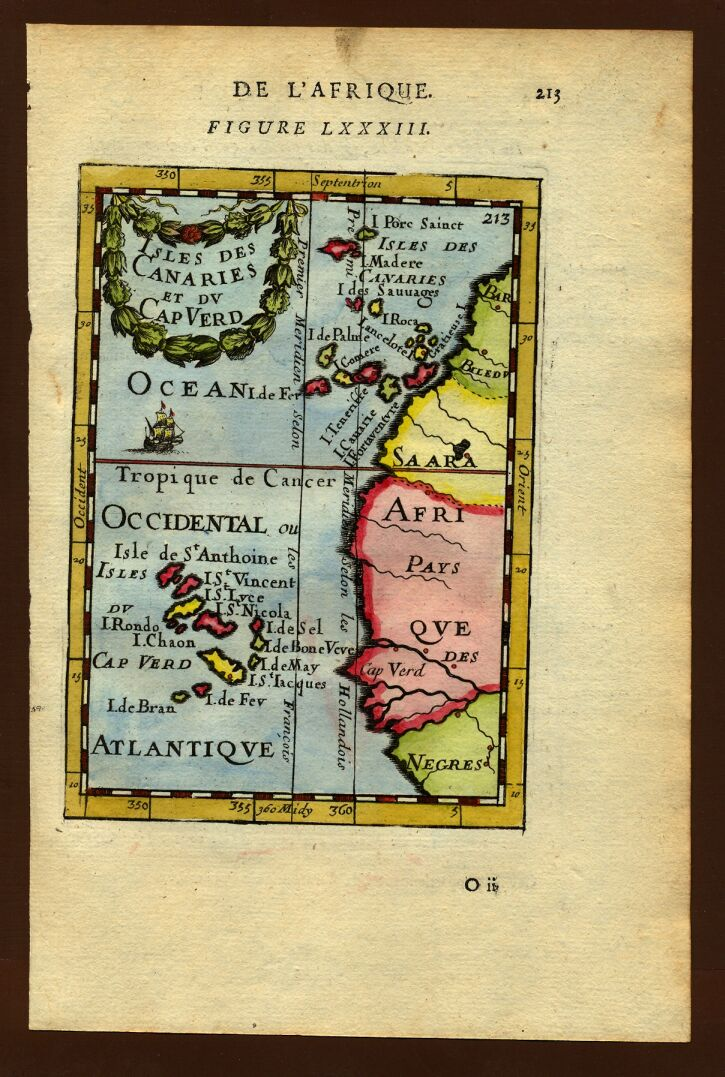 aa africa   Map of the Cape Verde Islands  1683