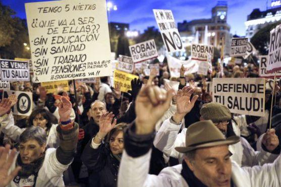 Madrid manifestazione