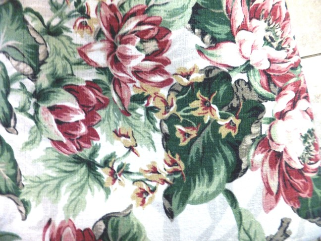 Close-up of vintage fabric