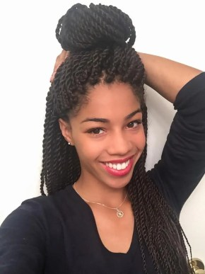 Senegalese Twist Top Knot