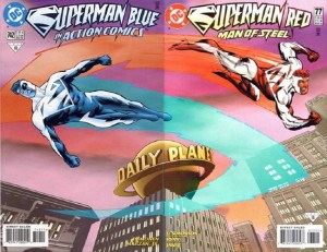 Superman Blue and Superman Red