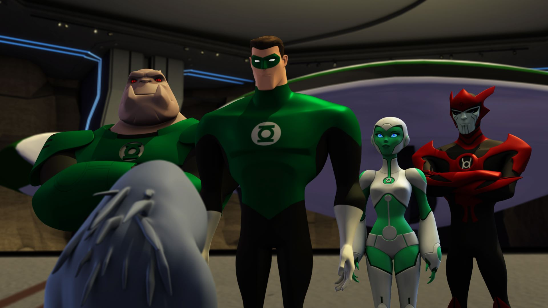 review green lantern the animated series the