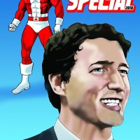TRUDEAU + CAPTAIN CANUCK ON CANADA DAY!