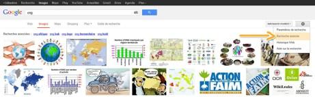 Google Images - recherche avancée