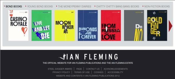 Le site de Ian Fleming Publications