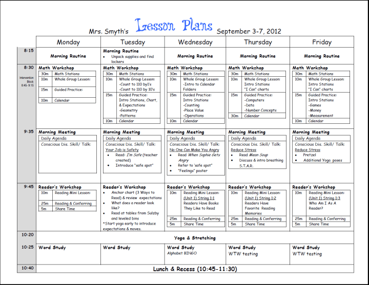 Esl Weekly Lesson Plan Christmas New Calendar Template Site