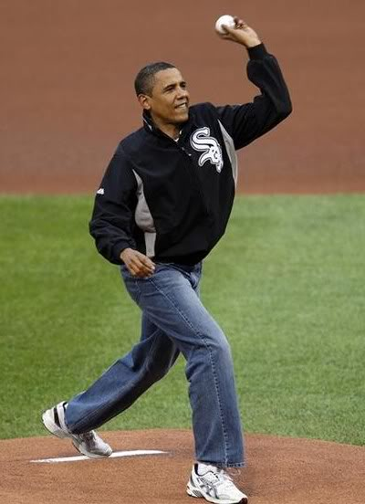 Obama Pitching
