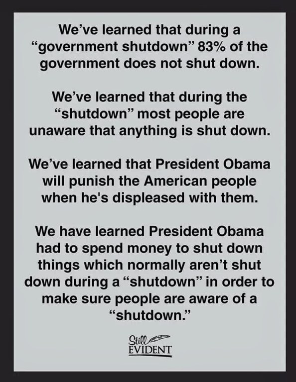 Lessons Learned From The Government Shutdown