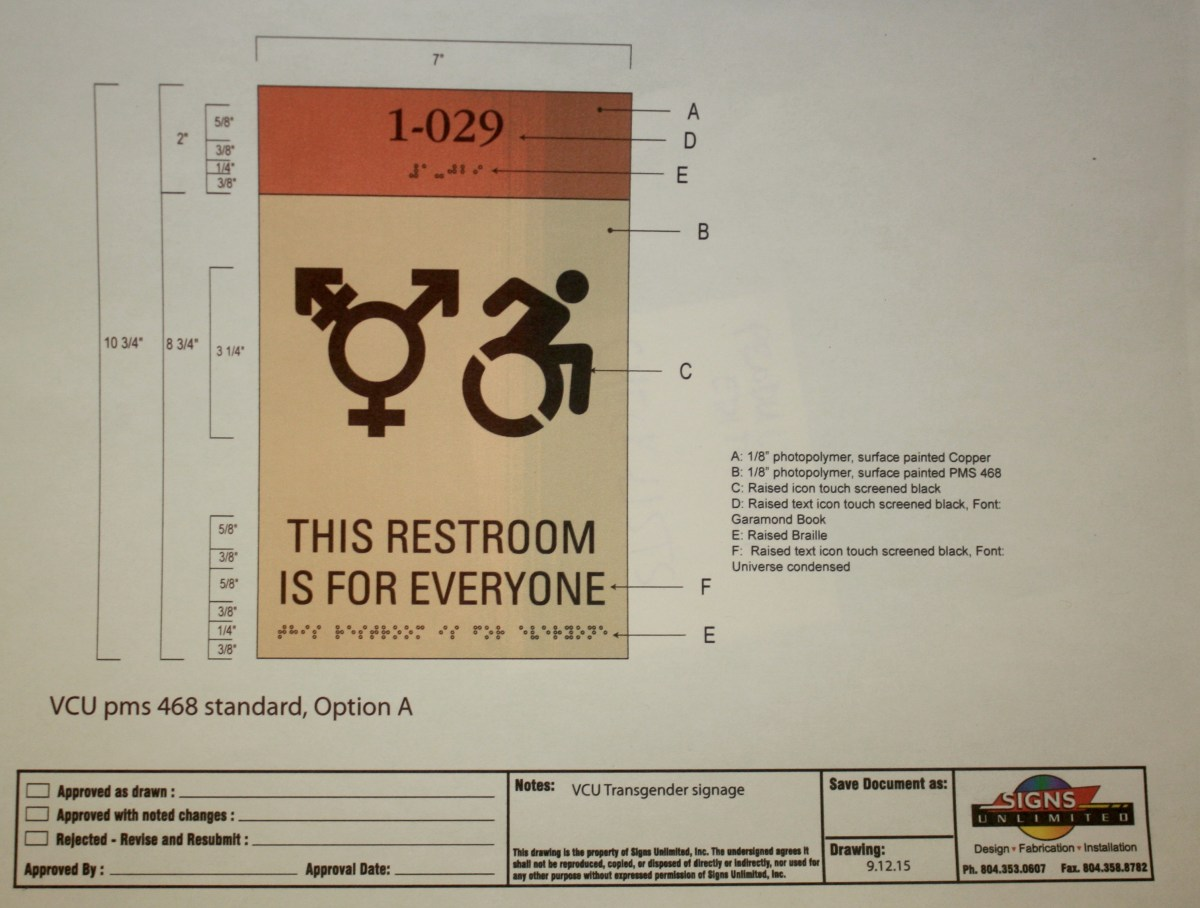 VCU implements gender neutral restrooms on MPC