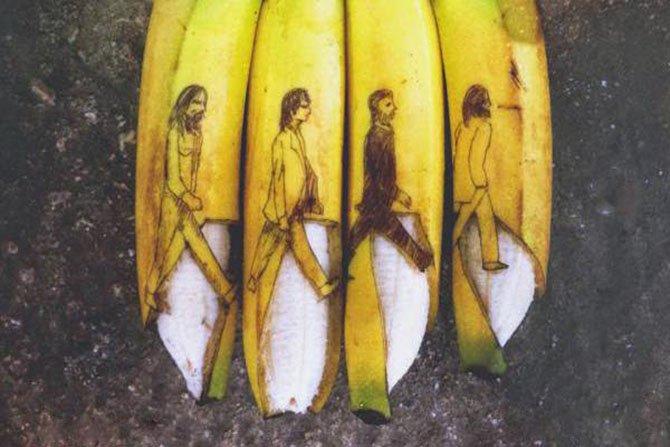 18 Incríveis artes feitas em bananas