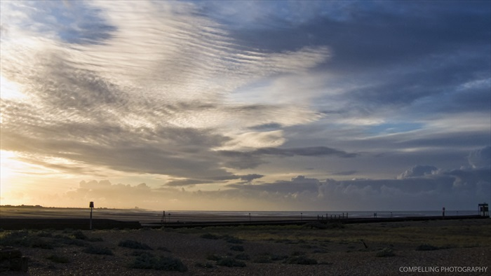 Rye Bay as the sun rises Seascape Rye Harbour Photography East Sussex Dungeness Beach