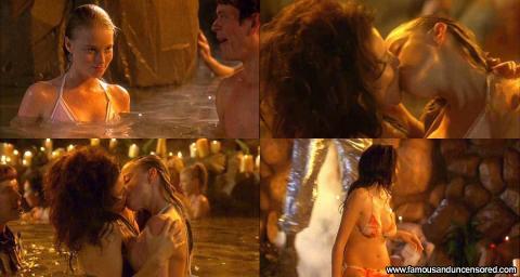 Rachel Nichols Nude Sexy Scene Tongue Pool Lesbian Bikini Hd
