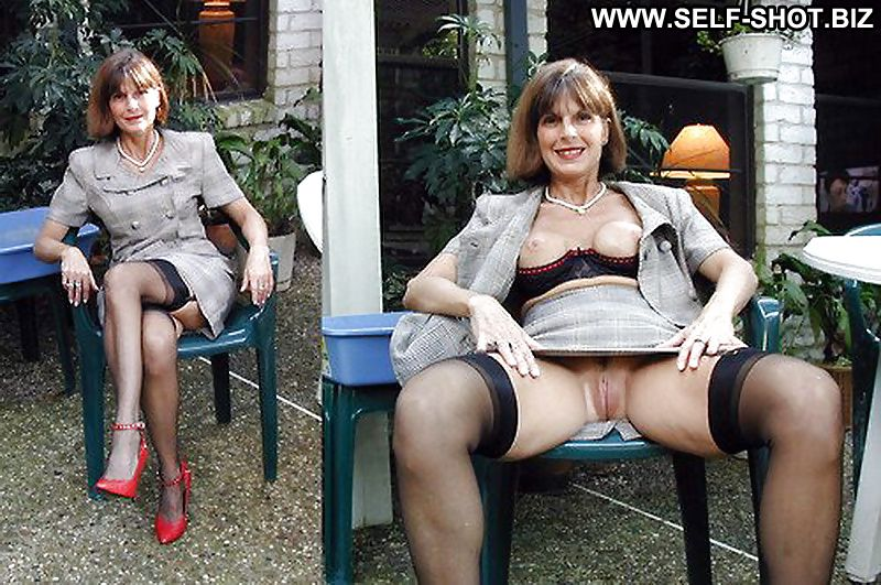 mature women dressed then undressed