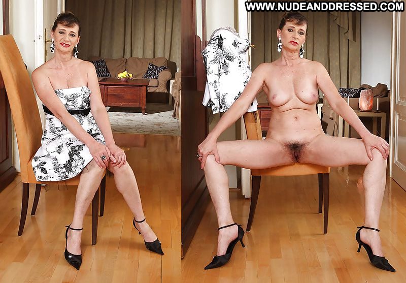 hairy mature dressed then undressed
