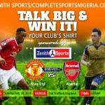 Manchester United Vs Arsenal: Talk Big & Win Your Club's Jersey