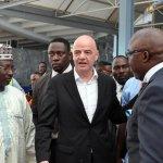 FIFA President Infatino, Secretary-General Samoura Land In Nigeria