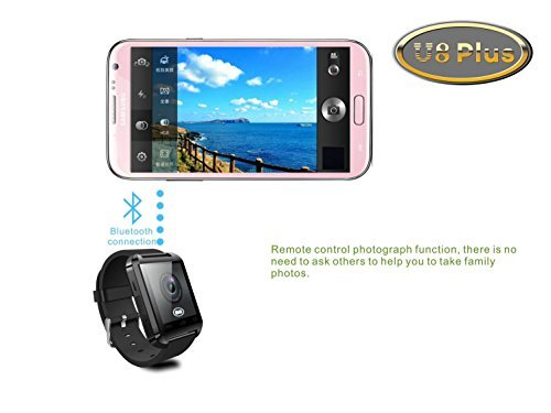 SUNDREAM-U8-Plus-Reloj-Bluetooth-40-tctil-inteligente-para-Android-IOS-Iphone-Samsung-Galaxy-HTCEs-el-companero-del-movil-Negro-0-0