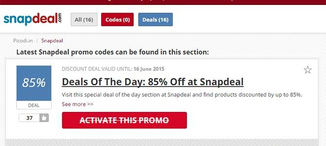 Snapdeal Discount Deal on Home Appliances