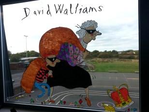 David Walliams window illustrations for St Nicholas C of E Primary School