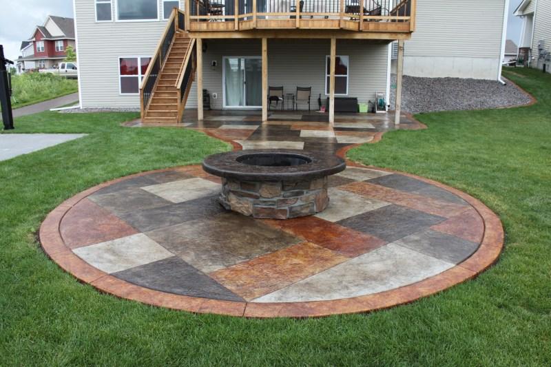Large Of Concrete Fire Pit