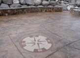 Compass rose patio design