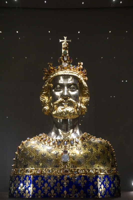 Charlemagne as depicted in a 14th century bust