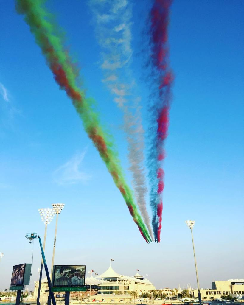 Awesome display in the sky before the formula one racehellip