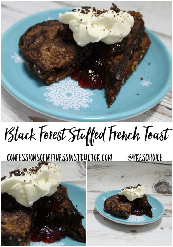 Black Forest Stuffed French Toast is perfect for a decadent brunch, or holiday breakfast. It's a must-try for any chocolate lover!