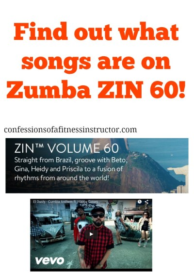zumba fitness zin 60 is here! Find out what music is coming to your favourite exercise class!