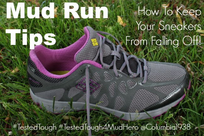 Learn how to tie your sneakers to keep them from falling off during a mud run.