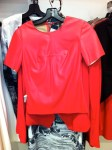 Glam-Aholic Retail Therapy: BCBG Red Leather Top