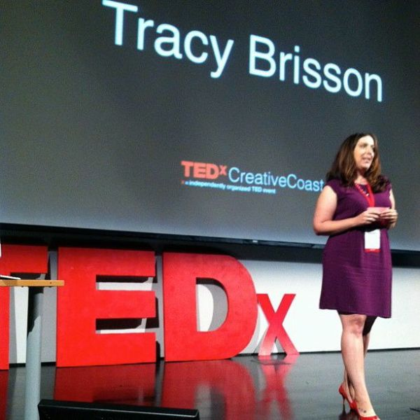 Tracy Brisson speaking at TEDx