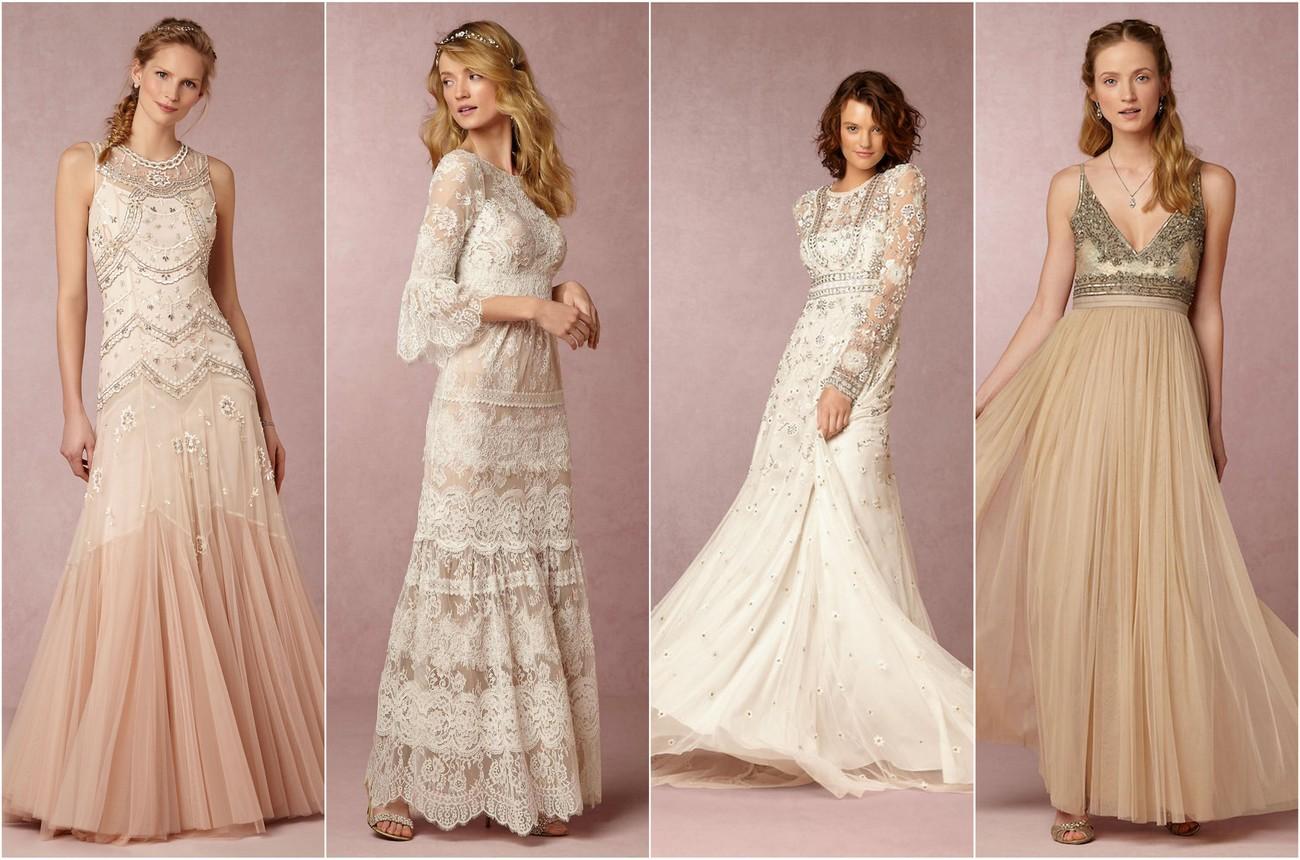 exquisitely romantic bohemian wedding dresses romantic wedding dresses