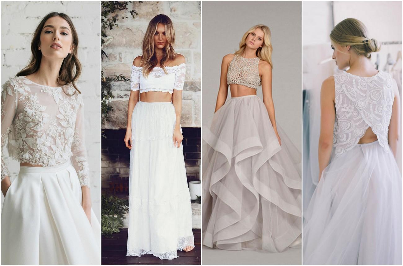 two piece wedding dress bridal separates 2 piece wedding dresses Two Piece Bridal Gown Separates