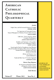 American Catholic Philosophical Quarterly