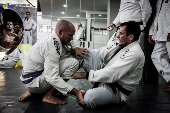 Lee on the mat at Gordo BJJ