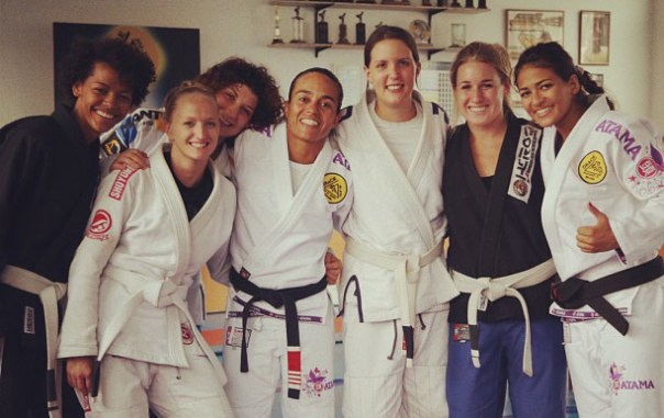 Three of the white belts in this pic had never done BJJ before coming to Rio