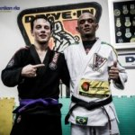 MIchael with Gracie Barra black belt Paulo Cezar 'Drive-In'
