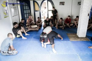 No-gi training in the Connection Rio house