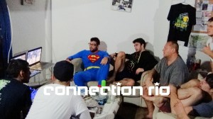 Davey Morehead and Connection Rio Barrinha HQ guests watching ADCC dual mat action.