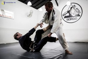 Dennis training BJJ in Rio