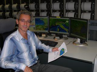 Il Dr. Amato dalla Sala Sismica dell'INGV (DA INGV)