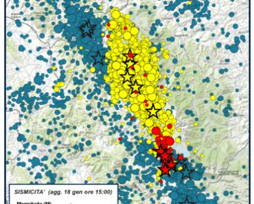 SISMICITA', sisma 18 gennaio 2017