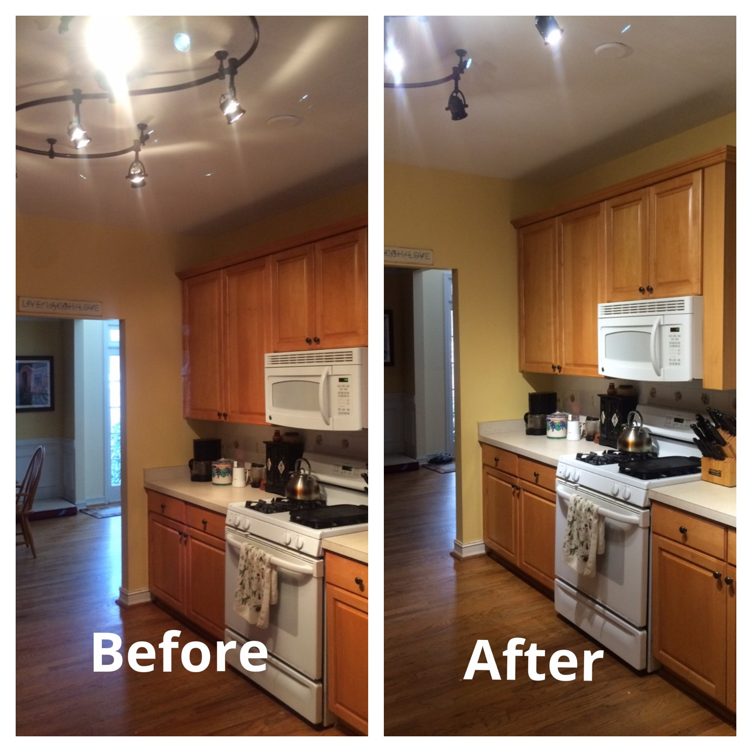 led lights replace halogens in kitchen update kitchen led lighting For the 10 years that we have lived in our house we had functional but not very stylish troffer lights in our kitchen They are great for work spaces and