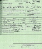 Alleged long form birth certificate
